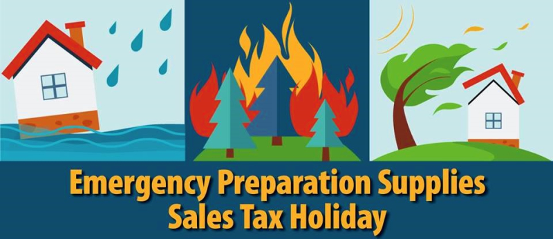 Texas emergency preparedness tax holiday supplies poster