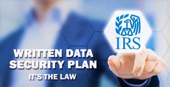 Tax preparer written security plan IRS video screenshot-cropped
