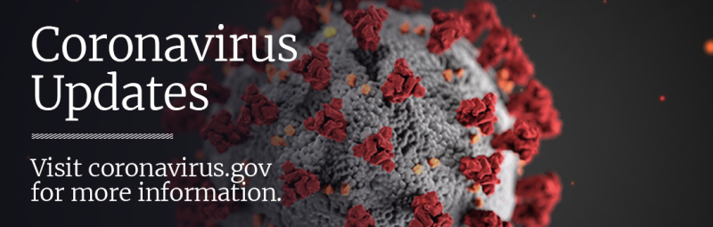 Coronavirus US Government  alerts banner