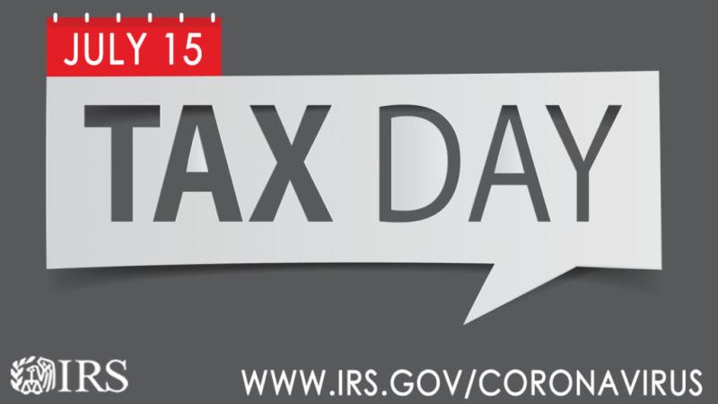 Tax Day 2020 is July 15 IRS coronavirus COVID-19 change