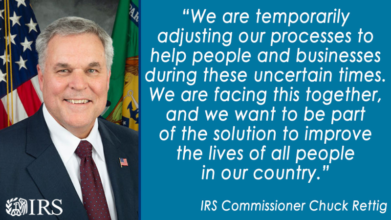 IRS People First initiative Rettig announcement