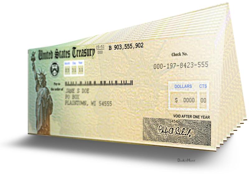 Treasury checks donkeyhotey flickr cc