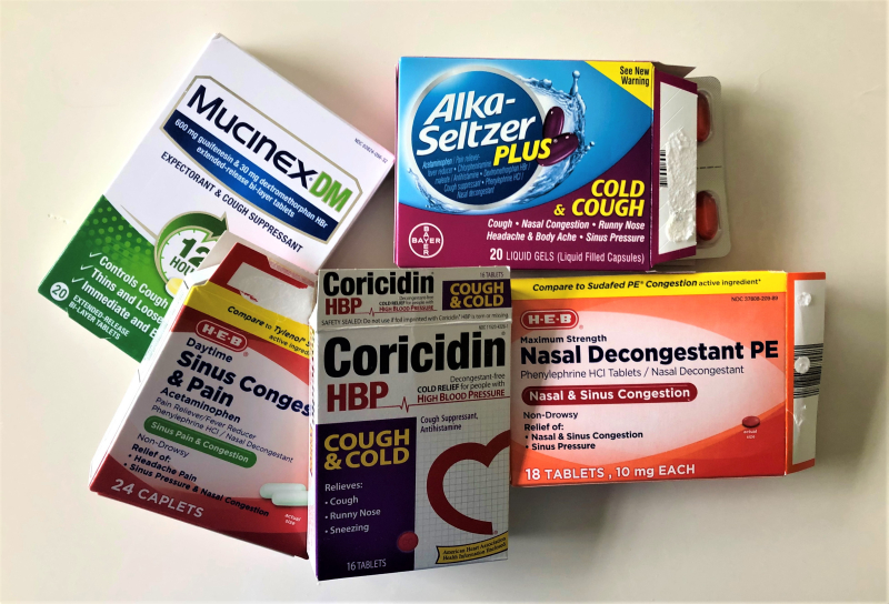 OTC cold allergy sinus medications
