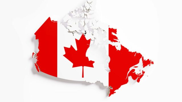 Canada map flag superimposed_Onlinemacha