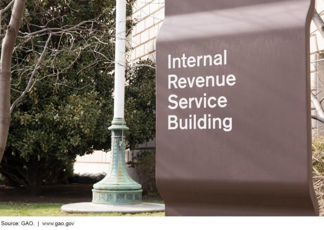 IRS building sign via GAO