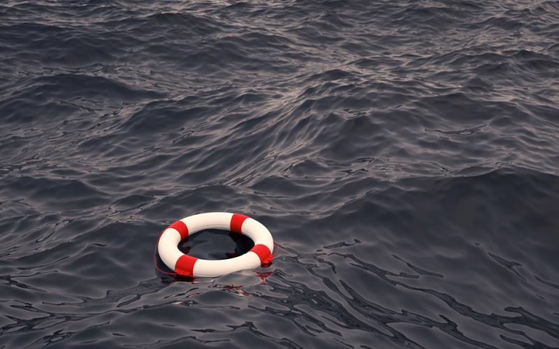 Distress lifesaver floatation device mayday call