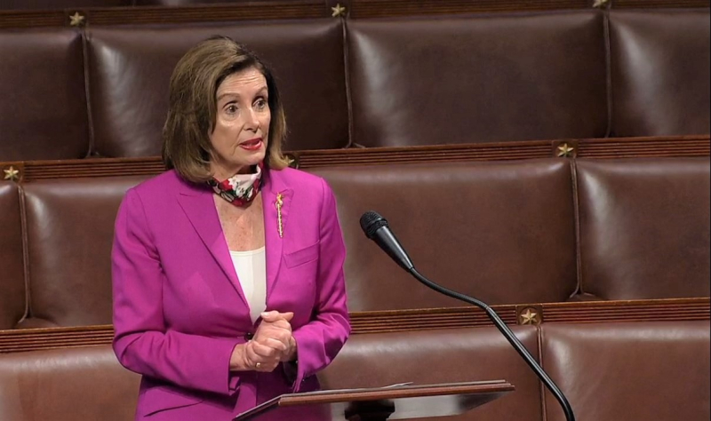 House Speaker Nancy Pelosi opening COVID-19 relief debate_Live House feed screenshot