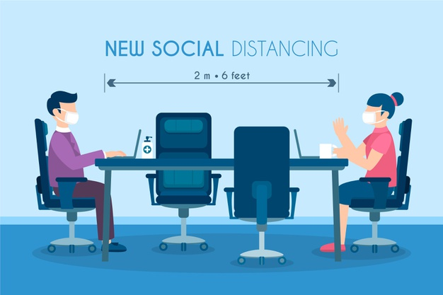 Social-distancing-meeting-theme_23-2148539928_freepik