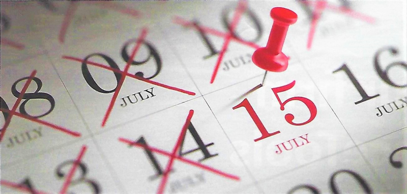July 15 Tax Day 2020 calendar