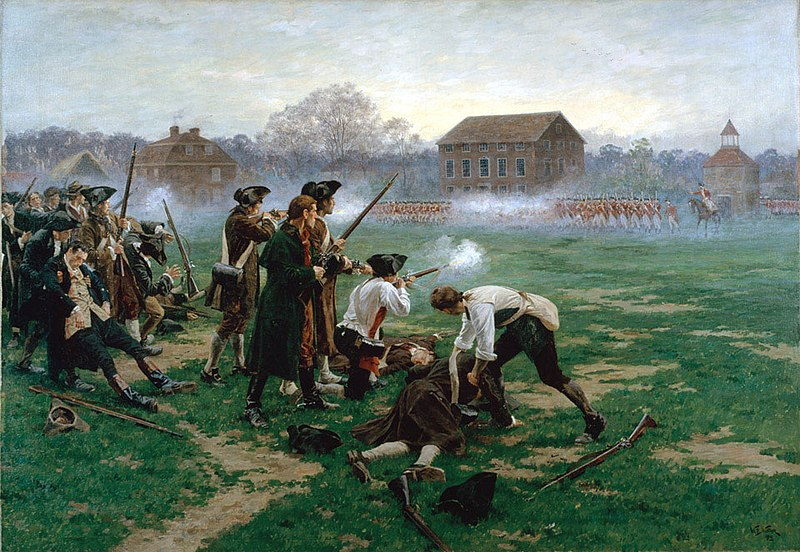 The_Battle_of_Lexington_painting-by-William_Barnes_Wollen-Wikipedia_Commons