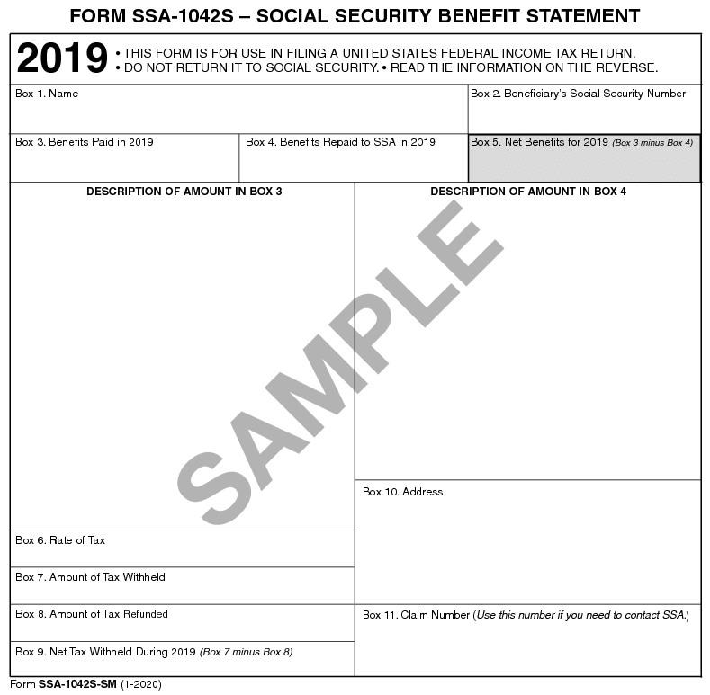 SSA Form 1042S