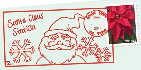 Santa Claus Indiana 2014 postmark