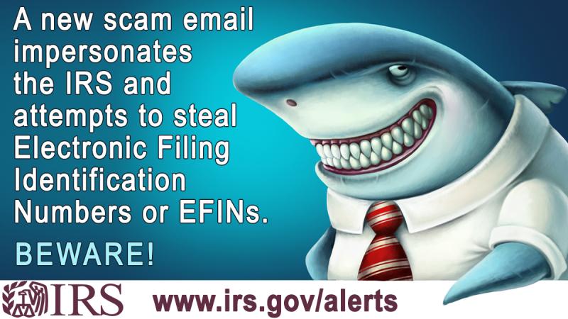 IRS alert on tax preparer EFIN scam