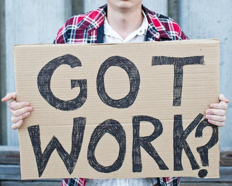 Job seeker got work sign