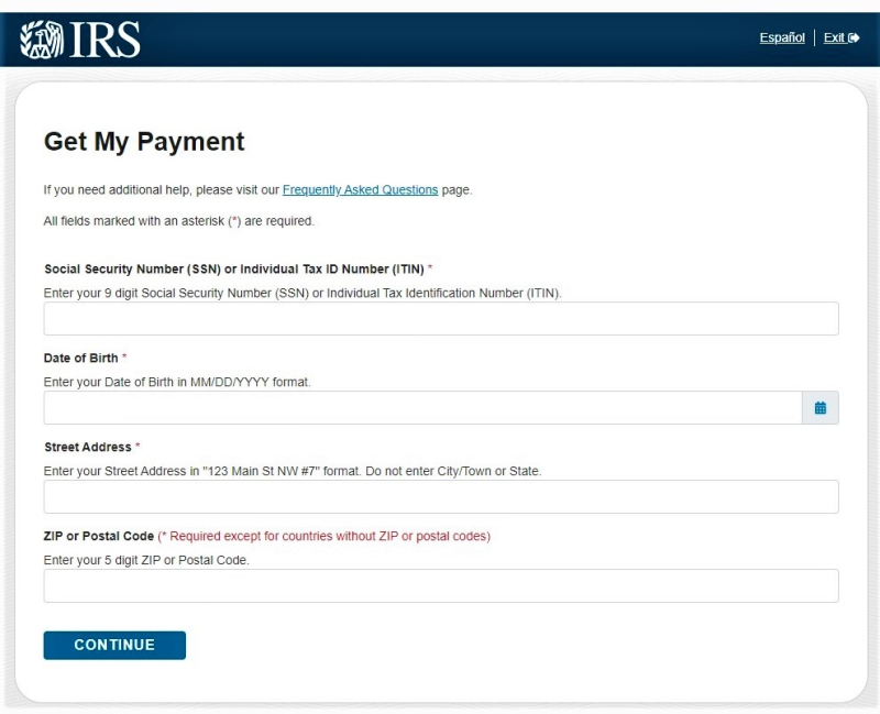 COVID payment status starting screen (2)