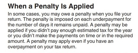 1040ES instructions re penalties