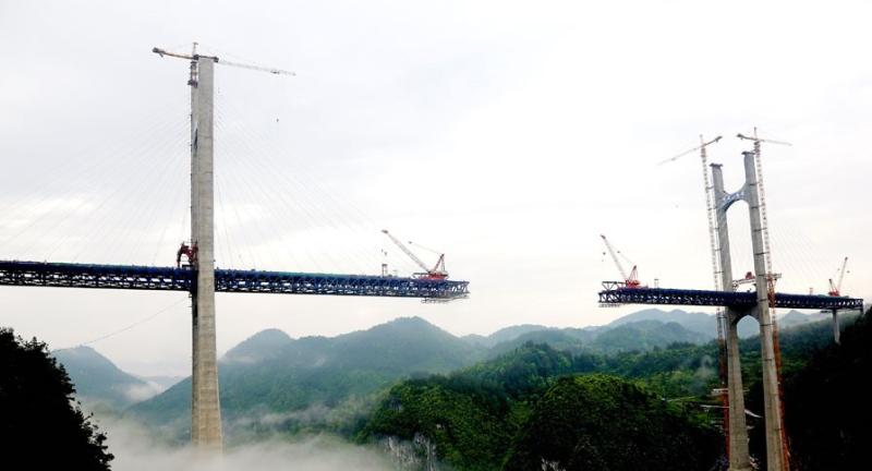 Gap in the Zhongjianhe Bridge_Enshi-Hubei province-China_Photo by Xinhua via ECNS-CN1_2014