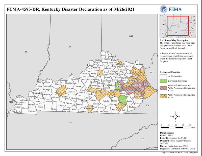 Kentucky flooding disaster areas Feb2021_FEMA_4595