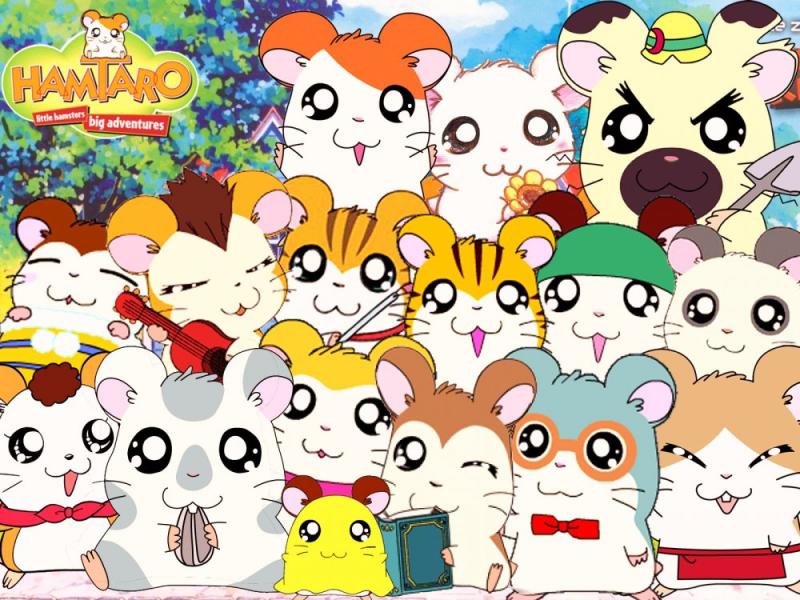 Hamtaro Japanese anime manga TV characters