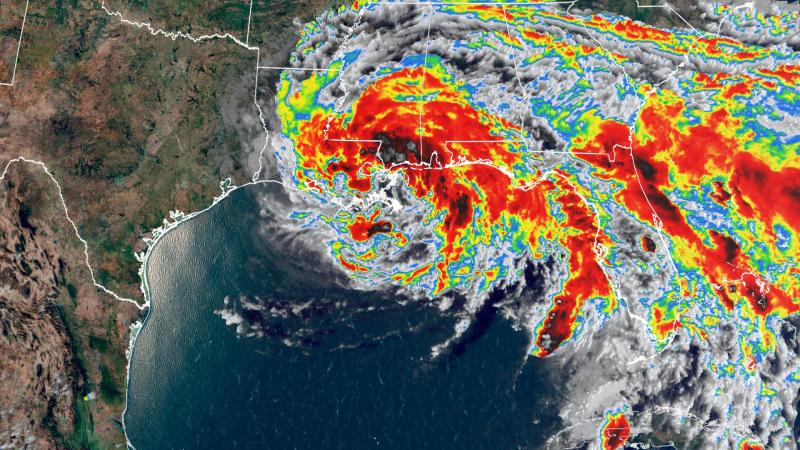 Tropical Storm Cristobal radar image landfall June 7 2020