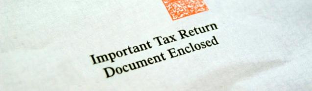 Tax notice envelope alert
