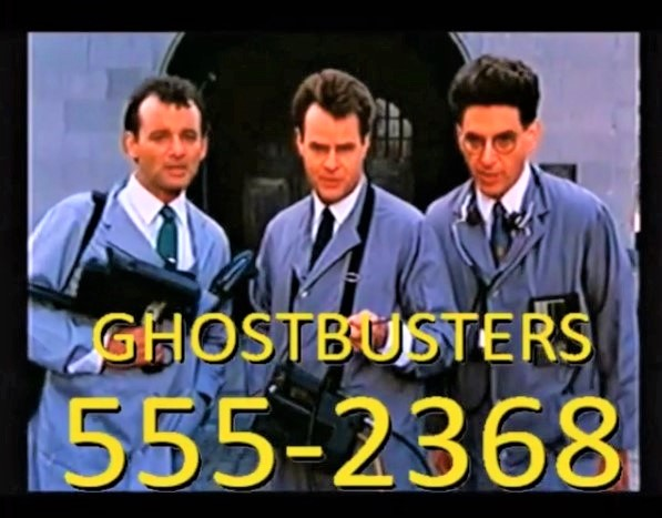 Who You Gonna Call 555-2368 Ghostbusters
