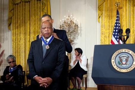 John Lewis_Presidential Medal of Freedom by Barack Obama 2011_White House Photo