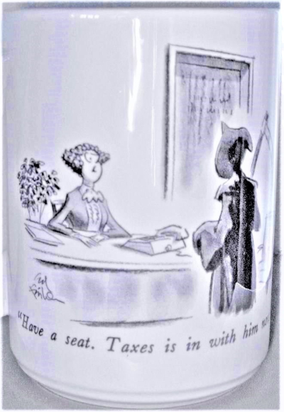 Death and taxes mug (2)