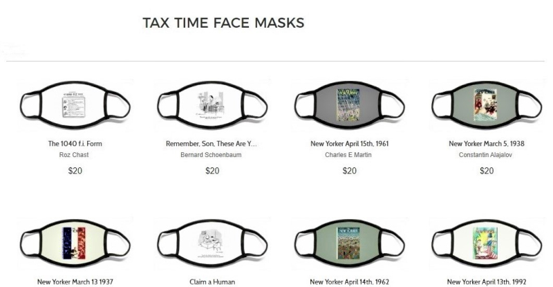 New Yorker Conde Nast tax time face masks-cropped2