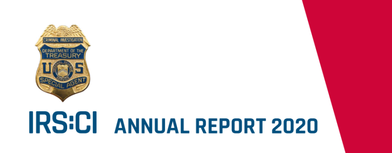 IRS CI FY2020 annual report cover excerpt