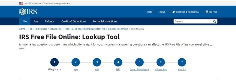 Free File Online Lookup Tool 2021