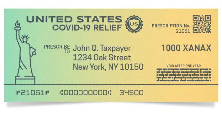 Covid check mockup