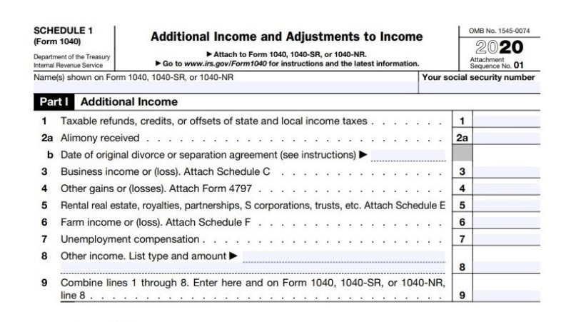 Form 1040 Schedule1 Part1 Additional Income-cropped