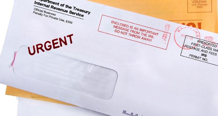 IRS notice envelope