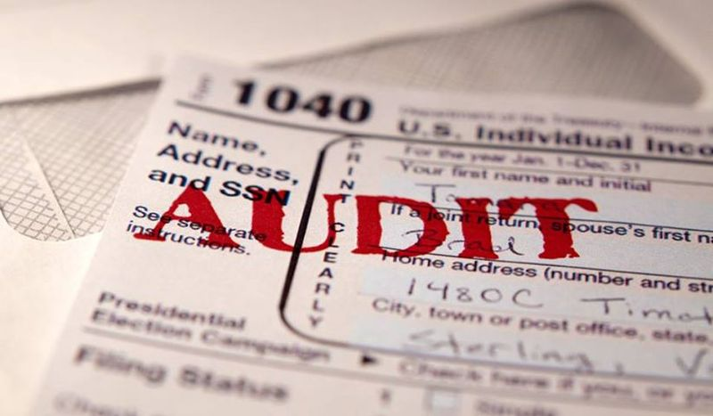 Tax audit_1040 and audit stamp