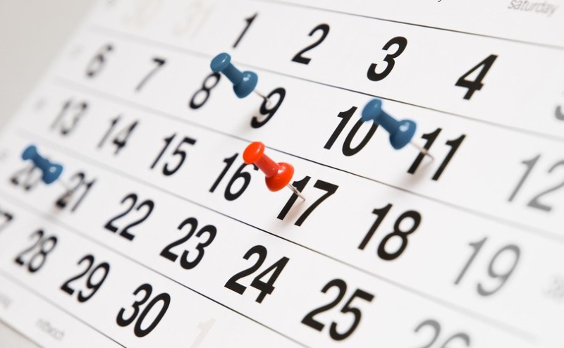 Many events on calendar