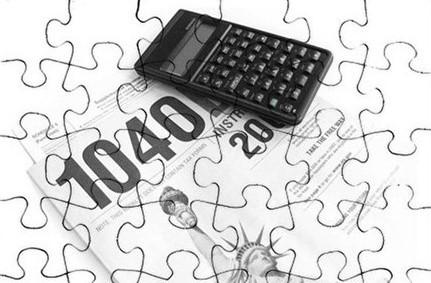 Tax return jigsaw puzzle