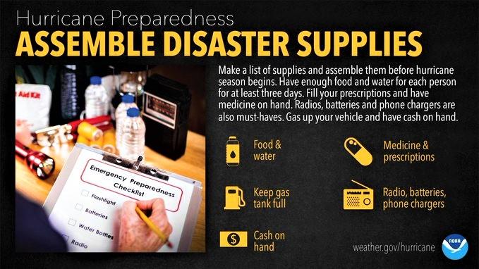 Hurricane disaster prep kit_NOAA graphic