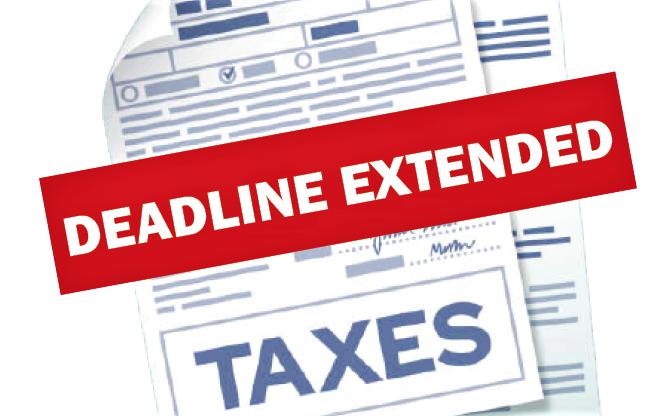 Deadline for taxes extended-1