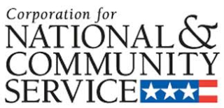 National community service logo