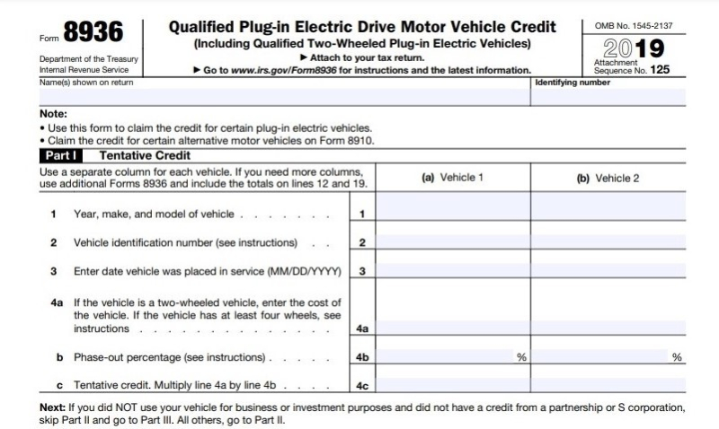 Form 8936 electric vehicle tax credit-1