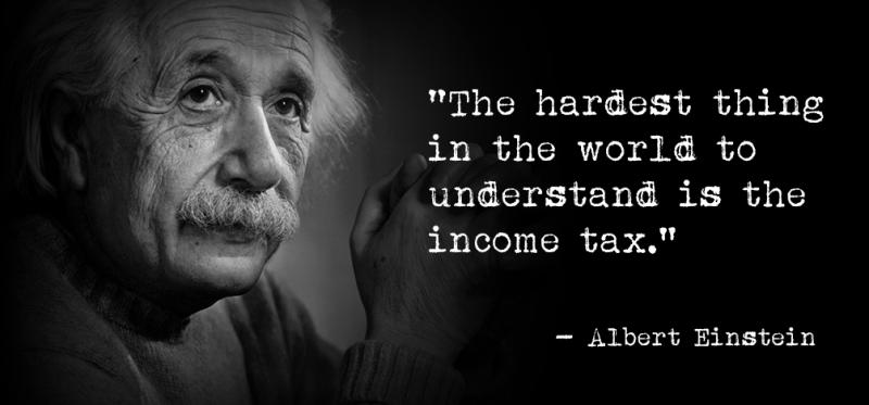 Einstein tax quote