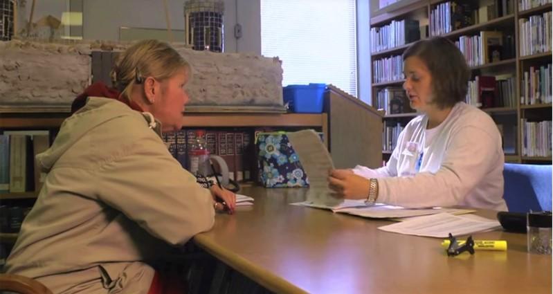 VITA tax volunteer helping a taxpayer file her return_IRS video screenshot