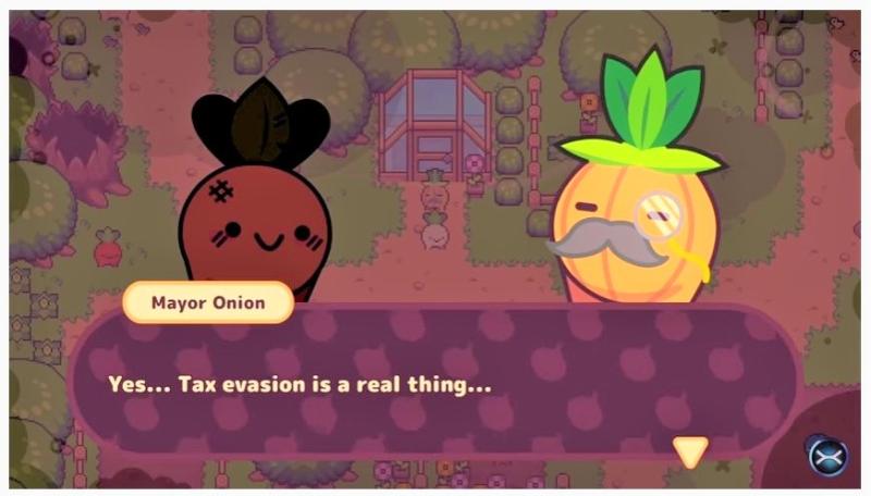 Mayor Onion explains tax evasion to Turnip Boy-screenshot