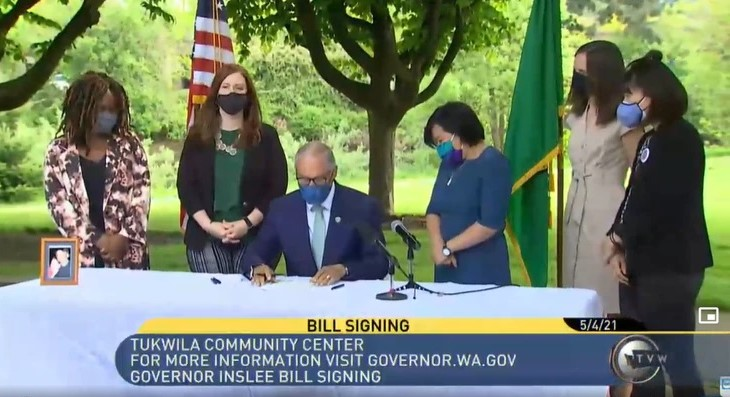Washington Gov Jay Inslee signs capital gains tax law_TVW video screenshot1