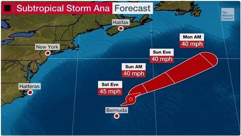 2021 hurricane season early start Ana May 22 2021 Weather Channel video screenshot