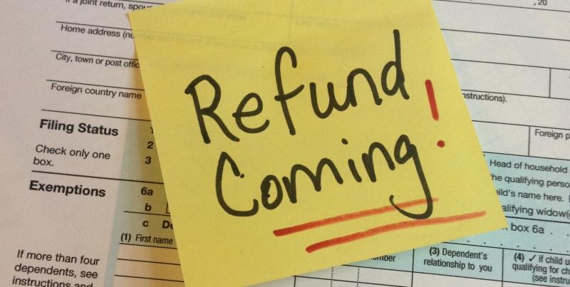 Tax return 2012 refund Post-It_no date