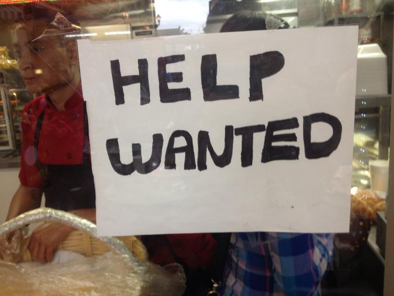 Help wanted handwritten window sign sarachicad flickr CC
