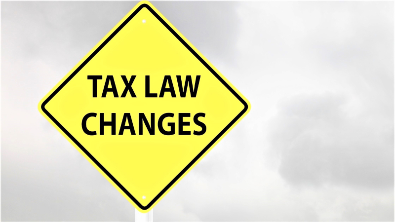 Tax-law-changes-road-sign-warning
