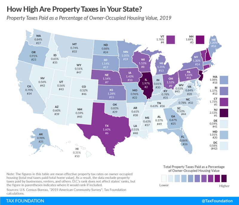 State-property-tax-comparison-map_Tax-Foundation_July-2021